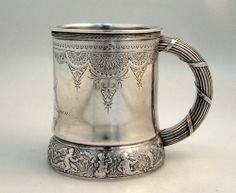 Gorham Aesthetic Sterling Silver Child′s Mug 1874 - Sold