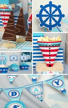 This fun NAUTICAL SAILBOAT BIRTHDAY PARTY was submitted by LeeLaaLoo Party . This party theme would be so great for any little boy. I love the color scheme and all of the cute printables that go ...