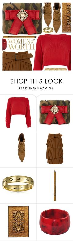 """""""Inspiring woman"""" by pastelneon ❤ liked on Polyvore featuring River Island, Bling Jewelry, NYX, Safavieh and Sephora Collection"""