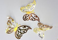 3D gold wall art gold nursery decor gold home by MyDreamDecors ...