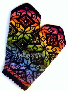 Rainbow mittens Hand knit rainbow gloves Hand by mittenssocksshop Knitted Mittens Pattern, Knit Mittens, Knitting Socks, Hand Knitting, Knitting Patterns, Wool Gloves, Knitted Gloves, Knitting Accessories, Knit Patterns