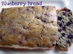 Blueberry Bread - Crazy for Crust....ok , I didn't make it, my sister did. It was awesome
