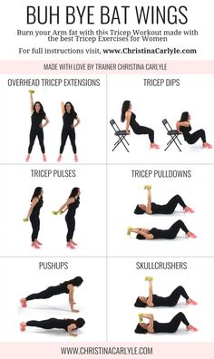 Tricep Workout with dumbbells for Tight, Toned Triceps Burn fat and tighten your arms in 20 minutes flat with this quick and easy Tricep Workout with Dumbbells. This tricep workout tones arms asap. Tricep Workout With Dumbbells, Dumbbell Workout, Workout Exercises, At Home Tricep Workout, Tricep Workout Women, Arm Workouts, Arm Workout Women With Weights, Arm Exercises With Weights, Tone Arms Workout