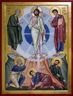 التجلي Byzantine Icons, Byzantine Art, Religious Icons, Religious Art, Transfiguration Of Jesus, Ignatius Of Antioch, Greek Icons, Church Icon, Paint Icon