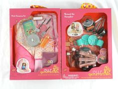 NEW Our Generation 2 Accessory Sets C&ing PINK Tent u0026 C&fire Rare # OurGeneration & Pleasant Company American Girl Doll 18