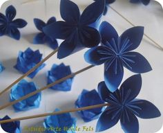 origami flowers, party decoration