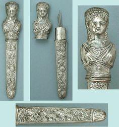 Roman Lady Sterling Needlecase - Circa 1850