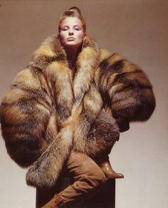 Cross Fox Fur Jacket