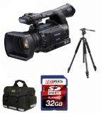 Panasonic AG-HPX255 AGHPX255 P2 HD Hand-Held Camcorder + VANGUARD Abeo 323AV Tripod + 32GB (10)