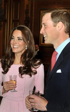 Kate and Will at the Jubilee Luncheon. Kate Wears Pink Emilia Wickstead Coat Dress.