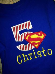Personalized Superman Birthday Shirt by tinyhandsdesigns on Etsy, $25.00