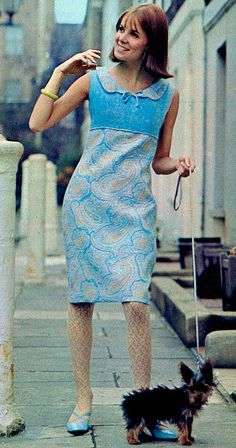 1960s Dress and lacy tights