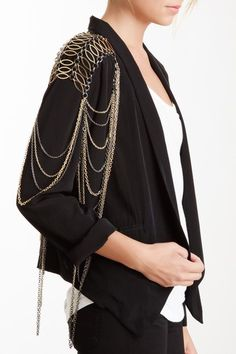 I could probably try to make this.....Beliza Body Shield Statement Necklace by Jewelry Event on @HauteLook