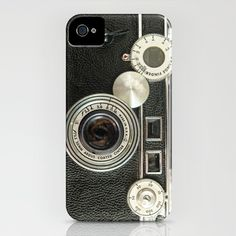 Vintage Range finder camera iPhone case. (I would slut myself out to the iPhone sheep just for this case)