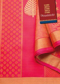 A stunning pink panel saree with gold leaf motifs. Zari has never been so stunning before. #Utppalakshi #Sareeoftheday#Silksaree#Kancheevaramsilksaree#Kanchipuramsilks #Ethinc#Indian #traditional #dress#wedding #silk #saree#craftsmanship #weaving#Chennai #boutique #vibrant#exquisit #pure #weddingsaree#sareedesign #colorful #elite