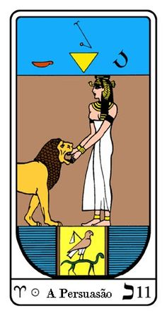 Tarot, Tarot No. 11 de Arcano, Tarot Egipcio