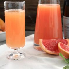 Sunday brunch mimosas are made to order with our super simple grapefruit mimosa.