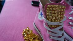 The Style Reporter by Lavinia V.: [DIY] Studded All star Converse!
