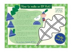 This make and do elf hat craft activity is great for your child to use when dressing up and for imaginary play!