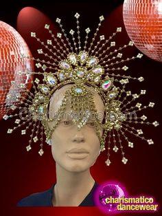 Headdress, Headpiece, Samba Costume, Tax Payment, Theatrical Makeup, Hair Jewelry, Dance Wear, Marie, Art Pieces