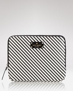 kate spade new york iPad Case - Black and White Stripes | Bloomingdale's