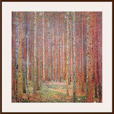 Buy Gustav Klimt - Tannenwald 1, Dark Frame, 90 x 90cm Online at johnlewis.com