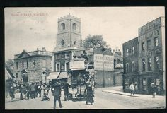 1904 Mare st on the right Bohemia place  Georgian houses and horse tram stables before it became LCC tramyards then #Clapton garage #Hackney Central