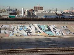 SABER's masterful piece in the bed of the Los Angeles River — often argued to be the world's biggest work of graffiti.