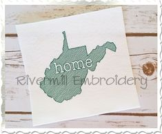 $2.95Sketch Style West Virginia Home Machine Embroidery Design