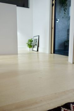 The Plywood Floor - How has it held up? 15 months later... Flooring, Diy Flooring, Concrete Floors, Small Cafe Design, Modern Farmhouse Floors, Cabin Floor, Flooring Trends, Plywood Floor, House On The Rock