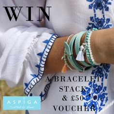 We have teamed up with beach wear brand Aspiga to giveaway £100 of prizes! Fancy winning a £50 voucher  to spend at ASPIGA.COM as well as choosing one of our new bracelet stacks and hair tie sets? Head to our Instagram @bohobettyuk! It couldn't be simpler to enter. Make sure you are following us and @Aspigabeach, and repost the competition image with #LOVEBBASPIGA whilst tagging a friend! GOOD LUCK! Ends 14th August midnight GMT. Boho Beach Style, Tie Set, Hair Ties, Beachwear, Giveaway, Competition, Bb, Fancy, Bracelet