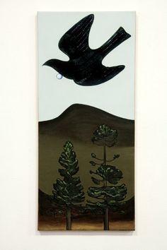 Don Binney - Tui Over The Anawhata Thinking In Pictures, New Zealand Art, Nz Art, Kiwiana, Bird Illustration, Australian Art, Art Auction, Animal Paintings, Bird Art