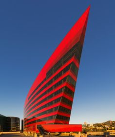 Pacific Design Center, Red Building in West Hollywood, CA | Designed by Pelli Clarke Pelli Architects. @designerwallace