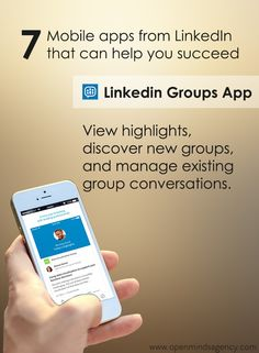 Use LinkedIn Groups App to view highlights, discover new groups, and manage existing group conversations.  Read our blog to know more: [Click on the image] #omagency #linkedIn #mobile