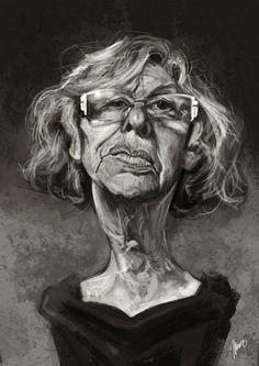 Manuela Carmena por Marcos Torres - Caricaturas de Famosos