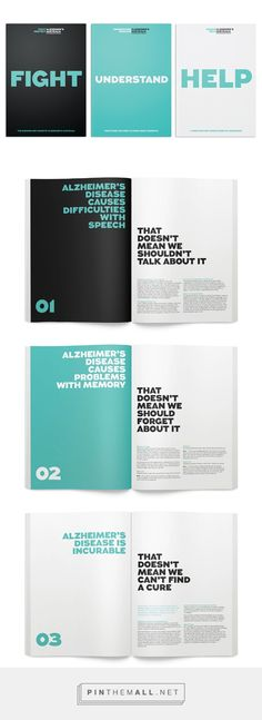 Alzheimer's Australia on Behance. - a grouped images picture - Pin Them All Booklet Design Layout, Layout Design, Typo Design, Text Layout, Graphic Design Layouts, Brochure Design, Graphic Design Inspiration, Book Design, Branding Design