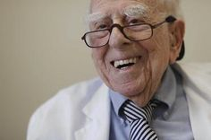 This chap's a doctor and still practising at the grand old age of 100. What a legend!