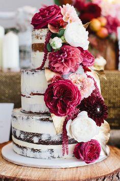 Estos son los 20 naked cake que todas las novias quieren llevar a su boda : Fiancee Bodas
