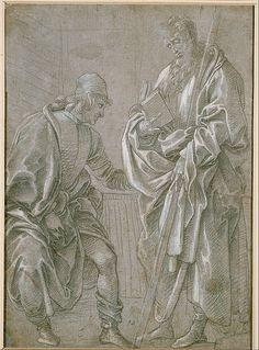 Filippino Lippi - Apostle and Youth - Google Art Project (Kupferstich-Kabinett, Staatliche Kunstsammlungen Dresden)