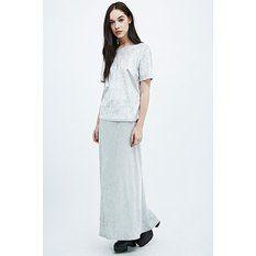 Urban Renewal Vintage Remnants Velvet Maxi Skirt in Silver