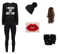 """""""i woke up like this"""" by alyssa1023 ❤ liked on Polyvore featuring UGG Australia and Peace of Cloth"""