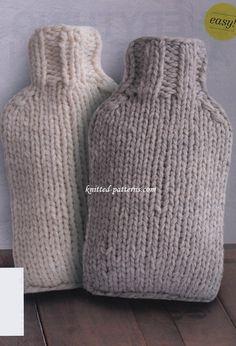 Hot Water Bottle Covers - Free Knitting Pattern