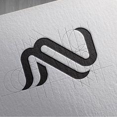 Logo inspiration - Textile et fil Logo Inspiration, Graphic Pattern, Logo Branding, Branding Design, Logos Online, Icon Design, Web Design, Typographie Logo, Geometric Logo