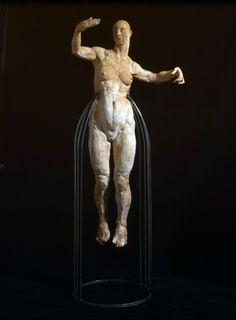 Escultura de Javier Marín en barro. Javier Marín's clay sculpture. Escultura contemporánea. Figura humana. Arte. Contemporary sculpture. Human form. Art.