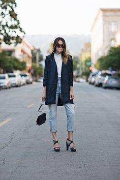 Jacket: ARMANI EXCHANGE Jeans: MADEWELL (similar ASOS) Heels: VINCE CAMUTO Bag: IVANKA TRUMP (similar NORDSTROM) Sunglasses: TOM FORD
