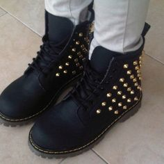 Black Boots  with spikes
