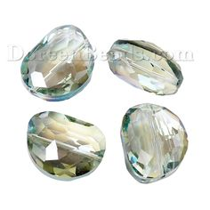 Worldwide Free Shipping Glass Loose Beads Oval Green AB Color Transparent Faceted About 23mm( 7/8) x 18mm( 6/8), Hole: Approx 1.5mm, 10 PCs [B62454] at incredible low price– DoreenBeads.com
