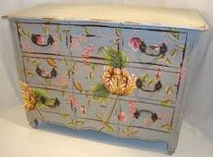 Image result for shabby chic painted chest of drawers