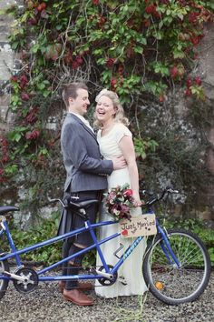 On a bicycle made for two!