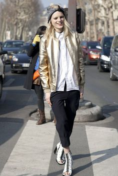 Très Chic! The Best Street Style at Paris Fashion Week: Hanne Gaby Odiele…